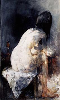 後姿の裸婦〈現在展示中〉