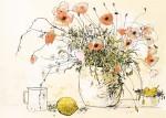 線で観る女性と花①〜③