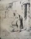 ジャン=フランソワ・ミレー 「桶の水をあける婦人」